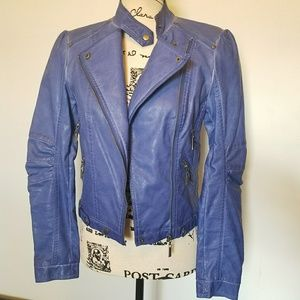 Jackets & Blazers - Faux-Leather Moto Jacket